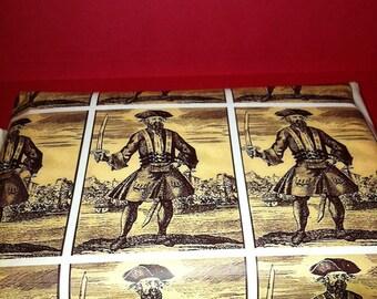 Blackbeard Wrapping Paper/Giftwrap