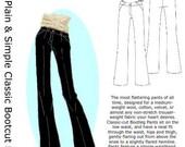 HotPatterns Plain & Simple Classic Bootcut Pants PATTERN sizes 6-14