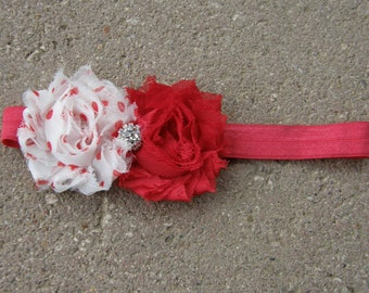 flower headband-shabby flower