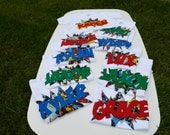 Super Hero Party Favor T-shirts- Set of 10
