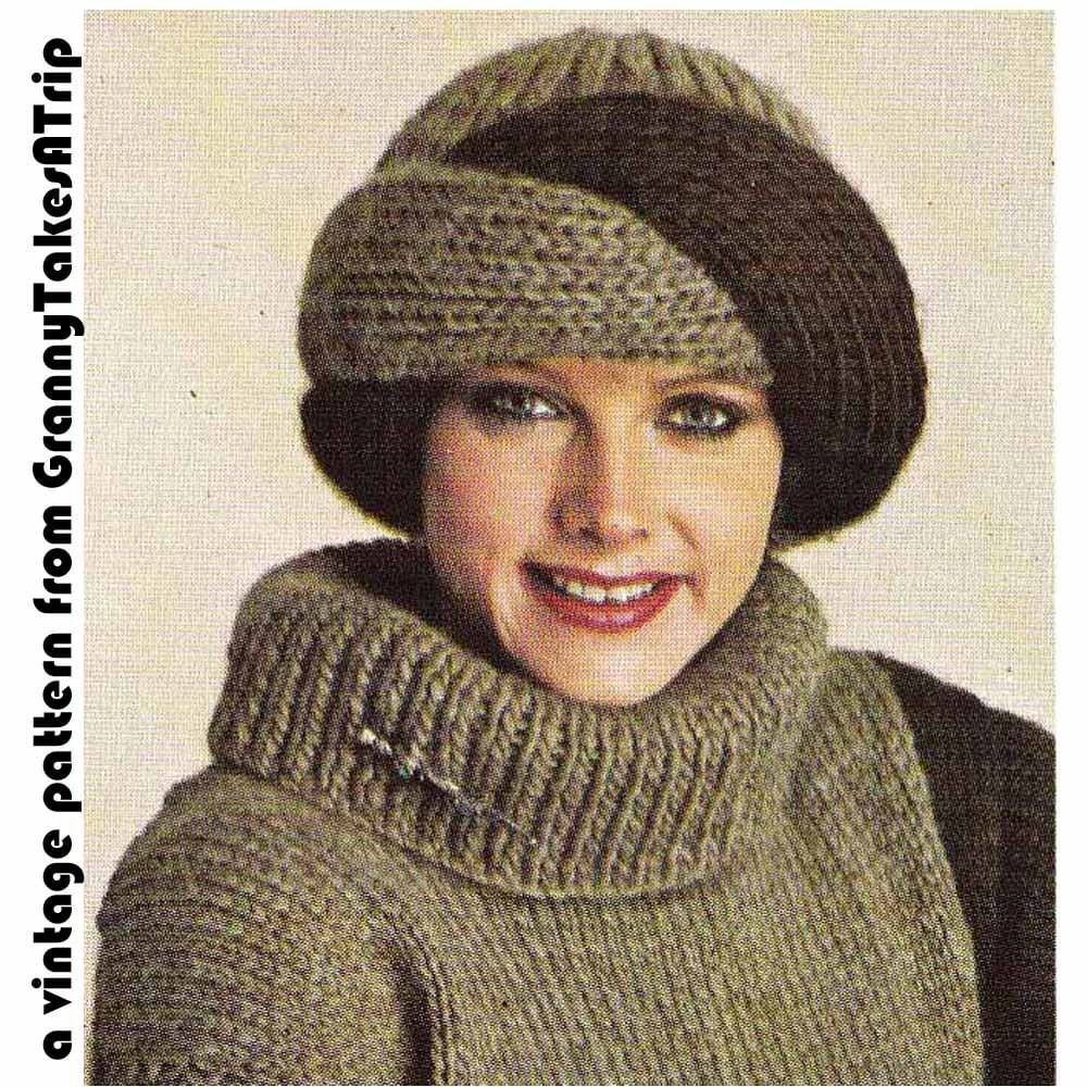 1970s/80s Vintage Knitting PatternTURBAN STYLE by ...