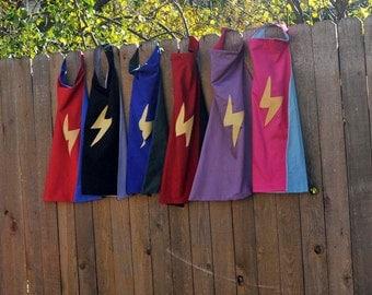 Super Hero Cape...Child Reversible Cape...Design Your Own..custom...eco-friendly