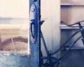 Ride Away, vintage-style bike photograph, 12x18