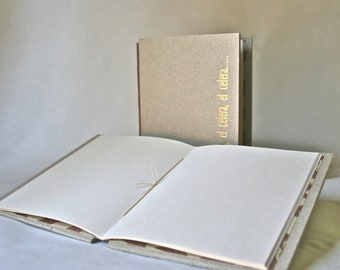 Handmade Hardcover Blank Journal for Writers and Artists