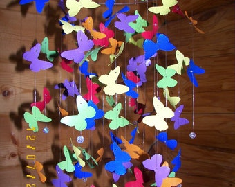 Bright Aluminum Butterfly Mobile