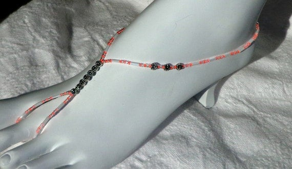 Barefoot sandal foot jewelry - available in any color