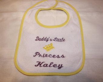 Embroidered Special Order/Made to Order Baby Bib