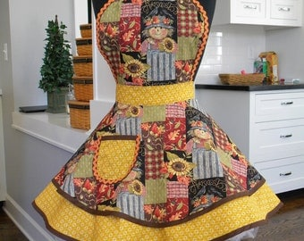 WOMENS APRON-The Fall Flounce Apron