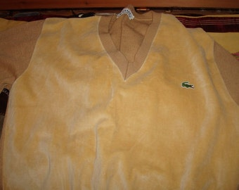 Funky gold velour Izod sweater