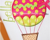 Hot Air Balloon Appliqued Bodysuit or Shirt