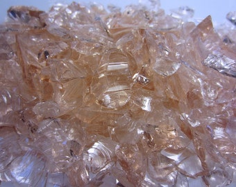Peach Glass Transparent Chips Recycled 1/2 pound (C110)