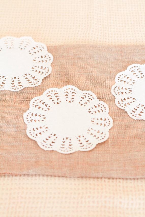 50 Centrini di carta bianca - Lace Paper Doilies set of 50