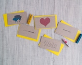 Little Notes, Set of 5 small cards
