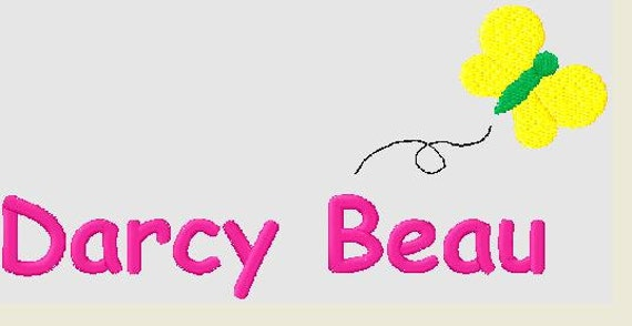 Items similar to any girls name embroidery design with