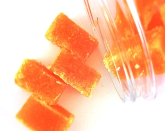 Pumpkin Sugar Scrub -  Sweet Cinnamon Pumpkin Pie - Solid Sugar Scrub Cubes