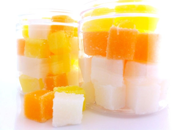 Halloween Candy Corn Sugar Scrub Cubes - Limited Edition