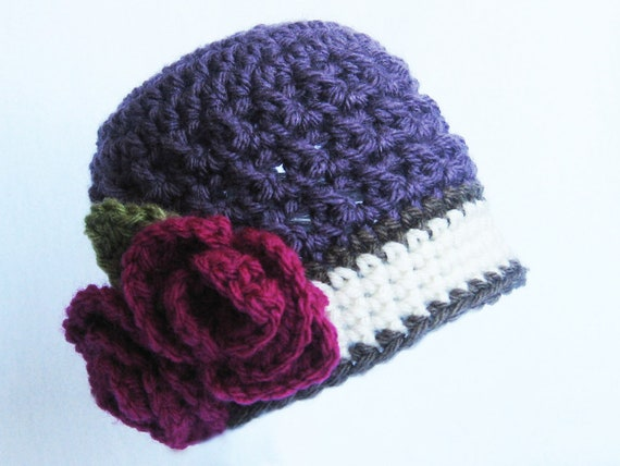 CROCHET PATTERN Briar Rose Beanie (5 sizes included from newborn-adult) Instant Download