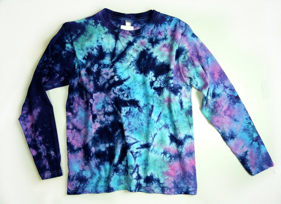 Items Similar To Ladies Long Sleeve Tie Dye Shirt Womens