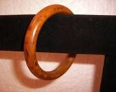 Vintage Bakelite Bracelet Chocolate Butterscotch