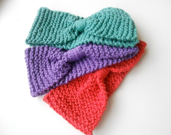 Knitted Headband With Bow Pattern : Unavailable Listing on Etsy