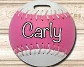 Softball Personalized Bag Tag