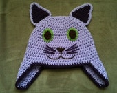 Kitty Hat with Ear Flaps