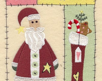 Believe in Santa Claus Embroidered Flour Sack Hand/Dish Towel