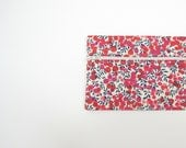 SALE Bright summer zip pouch, red blue white Liberty of London 'Wiltshire' berries, small make up case, greengrass2