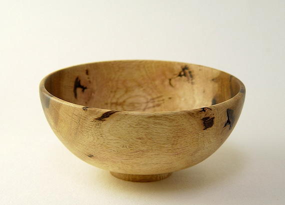 """Wood Bowl Handturned in California White Oak: 6"""" D. by 2.75"""" Tall"""