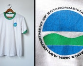 Vintage NYS Department of Conservation Ringer - Mens Small / Womens Medium