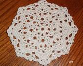 Small Crocheted Doily (e05)
