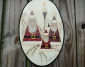 Primitive Santa wall hanging