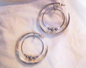Sale Silver Planetary Hoops
