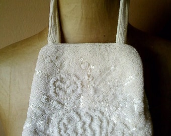 Vintage 50s Beaded  Party bag