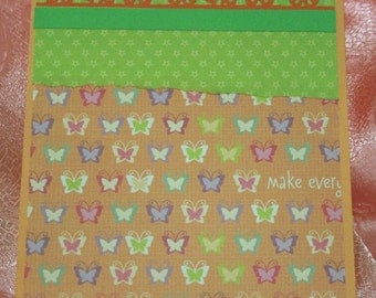 Orange Butterfly Card for Any Occasion  20120427