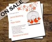 RESERVED for Isla - Izida Love Birds RSVP card to match Izida Wedding Invitation / Printable Wedding Stationery