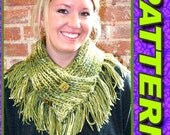 CROSSOVER ALPACA COWL with Optional Fringe This is a Knitting pattern.