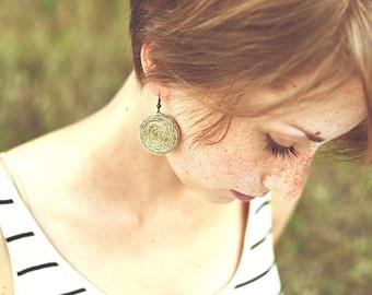 Hemp earrings organic jewelry, unique earrings rustic jewelry