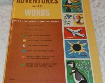 Whitman Help Yourself Series Adventures with Words Softcover Vintage Book 1961