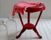 Vintage Metal Milk Stool - Country Farmhouse Charm