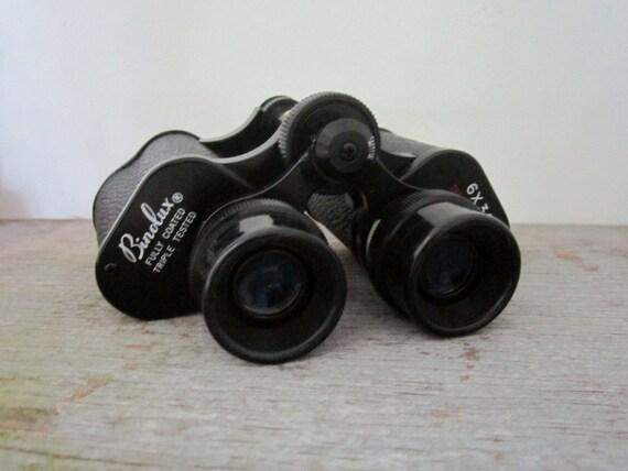 Vintage Binolux Supreme Binoculars - 6 x 30 Black with Case