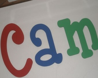 Primary Colors - custom - hand painted - colid color - wooden wall letters