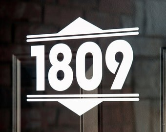 Address with Border 11 (Large) - Vinyl Decal