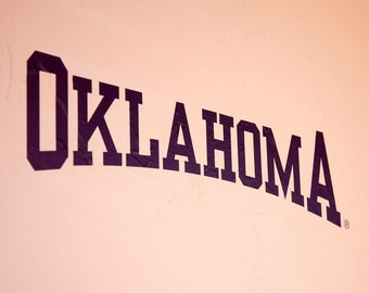 OKLAHOMA Arched - Wall Decal - University of Oklahoma