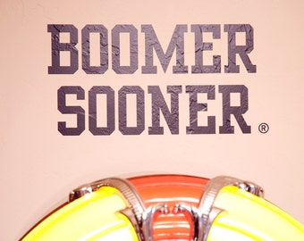 BOOMER SOONER - Wall Decal - University of Oklahoma