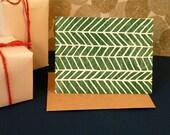 Holiday Greeting Card (3) - Block Printed - A2
