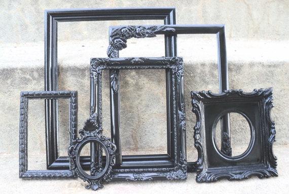 Black Picture Frame Set Ornate
