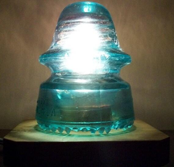 Vintage Insulator Light Railroad Utility Glass Insulator
