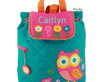 Personalized Backpack or Baby Diaper Bag Stephen Joseph Quilted Hoot Owl