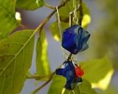 Orange and Blue Dangle CLEARANCE